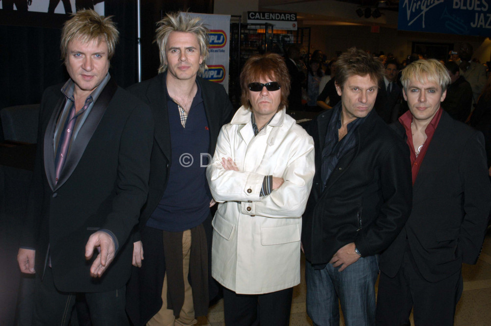 Duran Duran appear at Virgin Megastore, Times Square, NYC