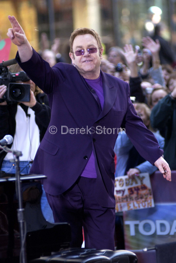 Elton John performs on the Today Show, NYC