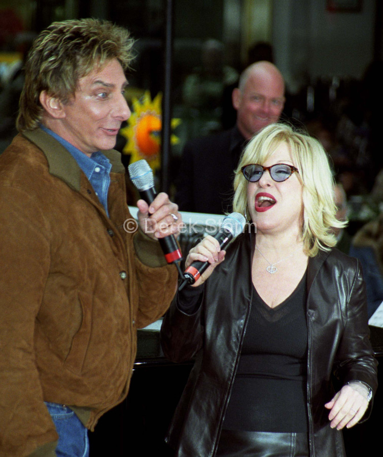Bette Midler & Barry Manilow perform on the Today Show, NYC